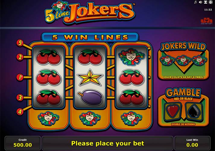5 Line Jokers gokkast